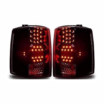 Negro humo lente LED Piloto Trasero lámparas Jeep Grand Cherokee (modelos de 97 - 98 trasera de repuesto: Amazon.es: Coche y moto