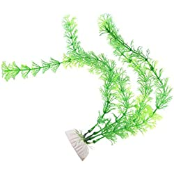 Zeroyoyo Simulation Aquarium Plants Water Faux Green Grass Ornament Plant Fish Tank Decoration