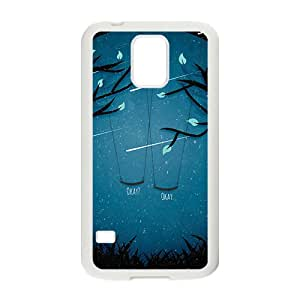 Artistic moon meteor showers and swings Cell Phone Case for Samsung Galaxy S5