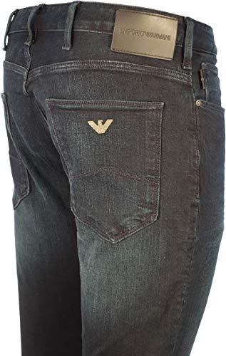 Dyed Dark Fly 1d0iz Zip Blue Fit Ea Faded Jeans 8n1j06 Slim Over J06 Armani qYwtfa7xP