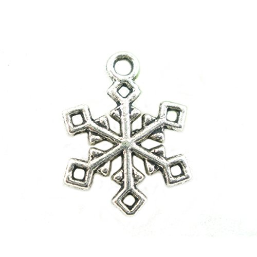 Housweety Christmas Snowflake Pendants 19x16mm