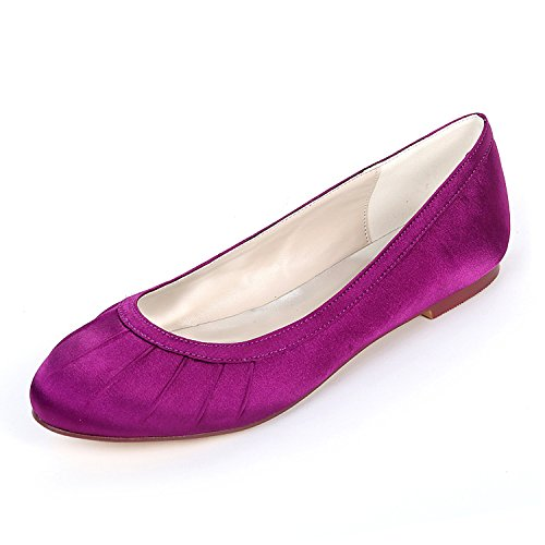 Purple Flower Slip Da Ager Damigella Z9872 Womens Scarpe Bridal Pumps Satin Promenade Ladies Wedding 26 Scarpe On Ballerine TBUqxwrfT