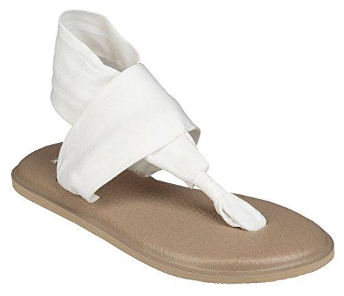 Mag Mat - Sanuk Yoga Sling 2 Sandal - Women's White/Light Tan, 6.0