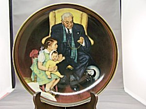 Norman Rockwell Tender Loving Care Plate by Norman Rockwell (Giraffe Tender)