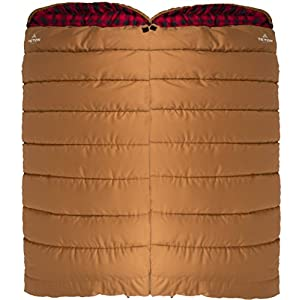 TETON Sports 104L Deer Hunter Sleeping Bag; Warm and Comfortable Sleeping Bag Great for Fishing, Hunting, and Camping; Great for When it's Cold Outdoors; Brown, Left Zip