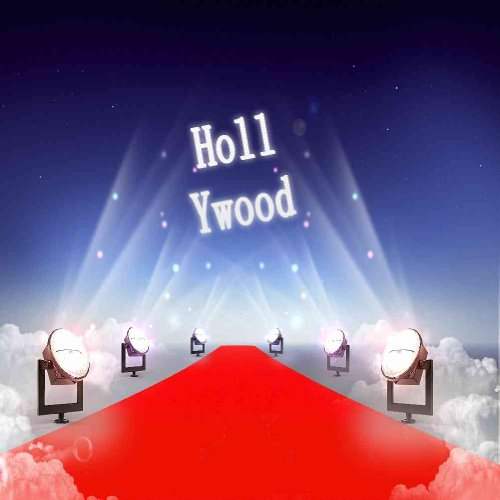 Hollywood Red Carpet 8' x 8' CP Backdrop Computer Printed Scenic Background GladsBuy Backdrop ZJZ-150