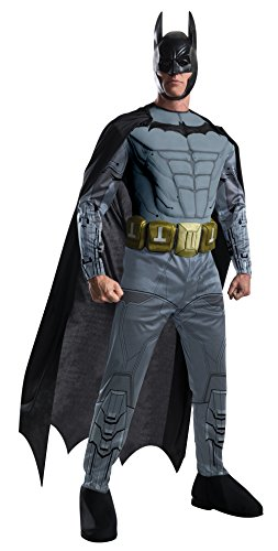 Deluxe Adult Batman Costumes Muscle Chest (Rubie's Costume Men's Batman Arkham City Deluxe Muscle Chest Batman, Multicolor, Small)