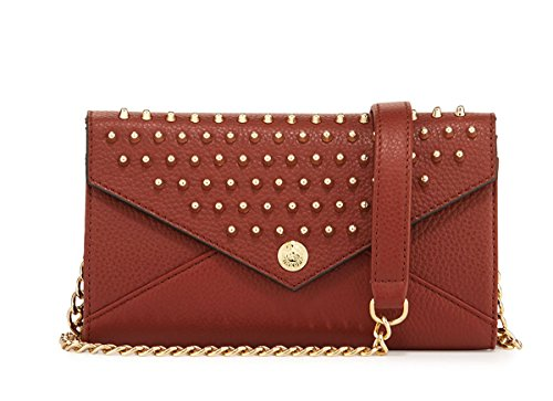 Rebecca Minkoff Women's Smith Studded Crossbody Wallet Bag (Whiskey)