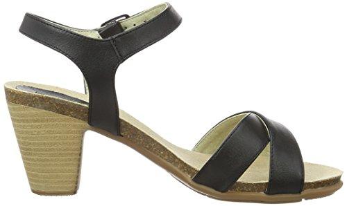 Jonny`s Vegan Luna, Women's Open Toe Sandals Schwarz (Black )