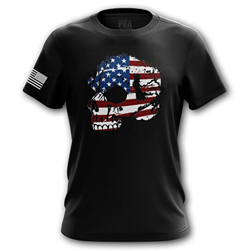 Tactical Pro Supply American Flag Skull T Shirt - Large