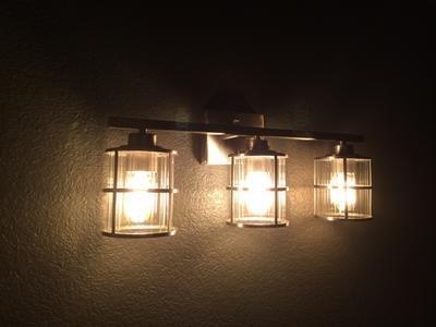allen + roth 3-Light Kenross Brushed Nickel Bathroom Vanity Light by allen + roth (Image #8)