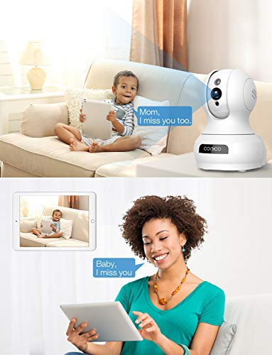 2019 New】 Wireless Security Camera,1080P HD WiFi Baby Monitor, Pan