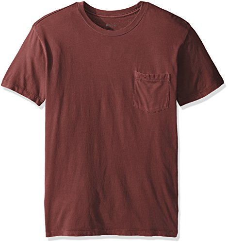 RVCA Men's PTC 2 Pigment Shirt, Bordeaux, M (Mens Pigment)