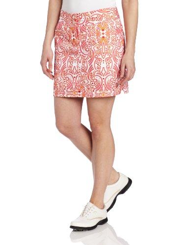 UPC 886050845354, adidas Golf Women's Contrast Blooming Tattoo Printed Skort, White/Bubblegum, 10