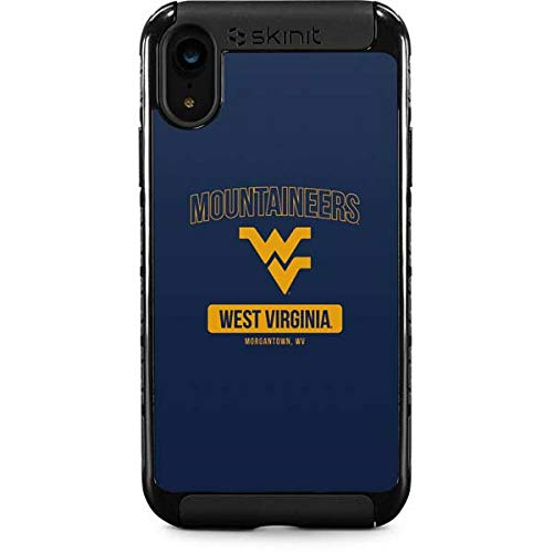 Skinit West Virginia Mountaineers Logo iPhone XR Cargo Case - Officially Licensed College Phone Case Cargo - Durable Double Layer iPhone XR Cover