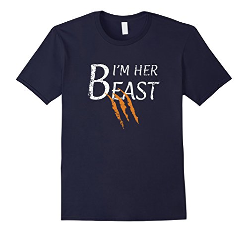 Mens I'm Her Beast - Funny Couple Custome T Shirt for the Husband XL (Funny Customes)