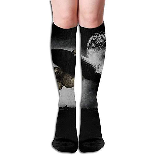 (Personalized Cool Athletic High Socks Stockings Unisex Atomic Bomb Sloth Novelty Sports Crew Tube Knee Sock Stocking)