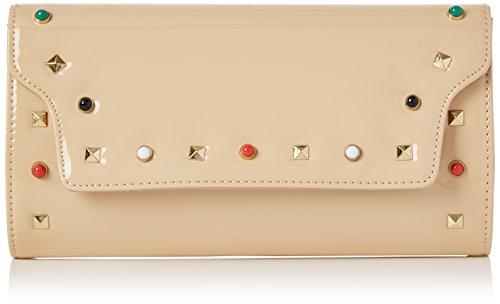 nude Valencia Women's Leather Swankyswans Patent Beige Clutch Ovw1PqPF
