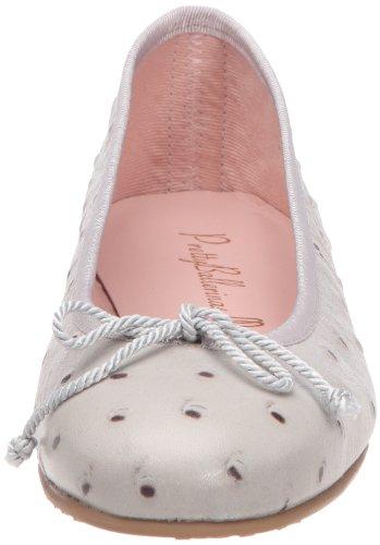 Pretty Ballerinas - Bailarinas de cuero para mujer Gris