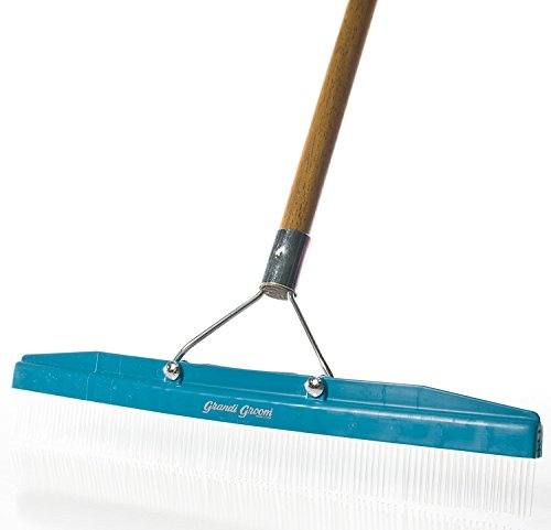 Grandi Groom AB24 Carpet Rake, 18-Inch Head, 54-Inch Handle, Blue