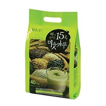 DAMTUH Korean Roast Grain with Yam Tea, 15 Roasted Grains Mixed Powder Breakfast Drink (Misugaru), 20g x 40 -