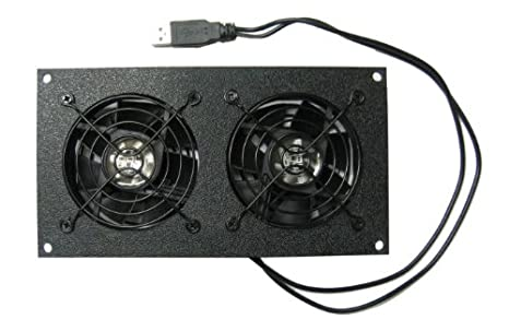Amazon.com: Coolerguys Dual 80mm USB Powered Cabinet Cooler for ...
