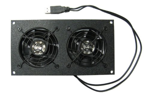 Coolerguys Dual 80mm USB Powered Cabinet Cooler for Cabinet & Home Theaters (Pc Case Fans Blow In Or Out)