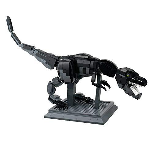 LionMoc Moc Creator DIY Building Block Machine Toy Compatible with Lego Building Set, Jurassic World Devilsaur T-REX Tyrannosaurus Rex Dinosaur Armored Razak Raptor Mecha (Devilsaur T-REX-Black)