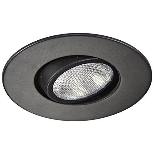 Eco Lighting NY HV6010BK 6-Inch Line Voltage Trim Recessed Light fit Halo/Juno, Adjustable Gimbal Ring Trim, All Black