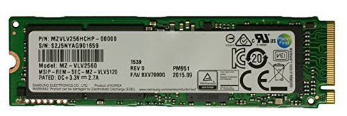 Samsung PM951 256GB M.2 NGFF PCIe Gen3 x4,
