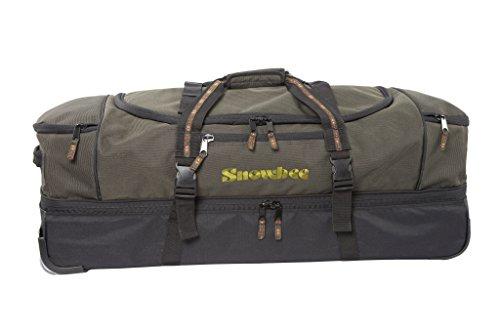 SNOWBEE XS Deluxe Rolling Tasche mit Pull Out Griff & Zwei Weg Reißverschluss, grün/schwarz, One Size