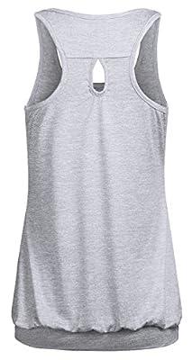 Ninedaily Womens Sleeveless Workout Tank Tops Round Neck Racerback Yoga Shirt