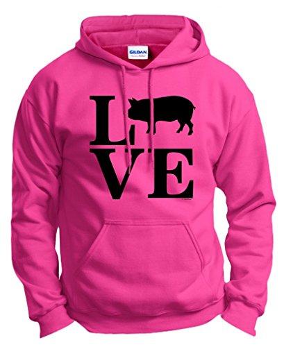 (Barnyard Farm Animal, Love Pigs Hoodie Sweatshirt Small Hlcna)