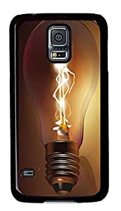 Samsung Galaxy S5 discount cases Painted Bulb Art PC Black Custom Samsung Galaxy S5 Case Cover