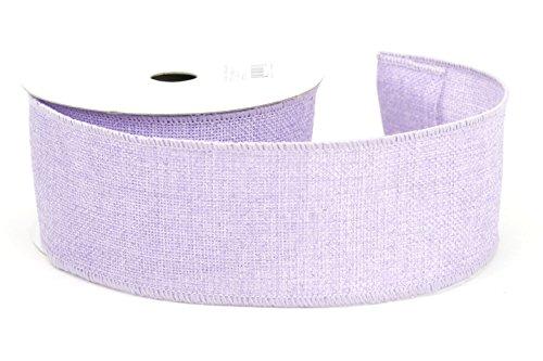 Kel-Toy RDJB162-32 Sparkle Faux Burlap Ribbon, 2.5-Inch by 10-Yard, Lavender