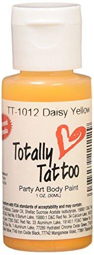Badger Totally Temporary Tattoo Daisy Yellow 1 oz Airbrush Paint