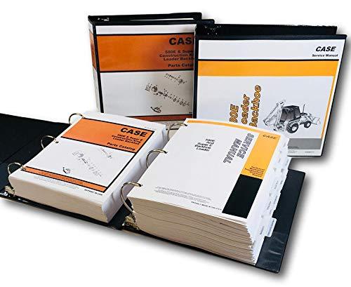 (Case 580E 580Se 580 Super E Loader Backhoe Service Manual Parts Catalog Book)