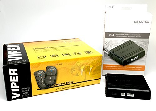 Remote Car Engine Starter - Viper 4105V Remote Car Starter 1-Way TWO 4-Button Remotes Keyless NEW 2017 Model & Directed DB3 XPressKit DEI Databus ALL Combo Bypass / Door Lock Interface Bundle Package