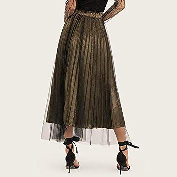 MJY Productos para adultos Falda plisada de malla Falda de cintura ...