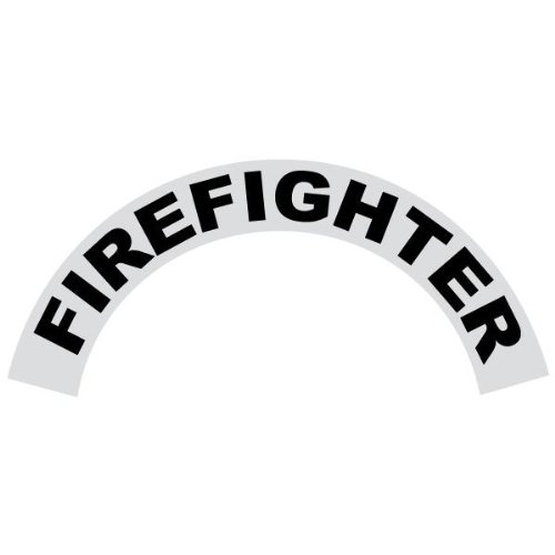 NOT FOR PETZL HELMETS - Firefighter - Reflective Standard Helmet Crescent Decals/Stickers - Package of 20