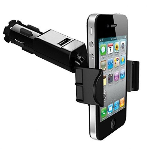 Car Mount Lighter Socket Holder Rapid Charging USB Port 1.5Amp for Net10, Straight Talk, Tracfone LG Power, Sunrise, Destiny, Lucky, Access, Sunset, Optimus Dynamic 2, Optimus Q, Logic, Net