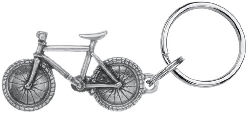 DANFORTH - Bicycle Keyring - 2 1/4 Inches - Pewter - Key Fob - Handcrafted - Made in USA