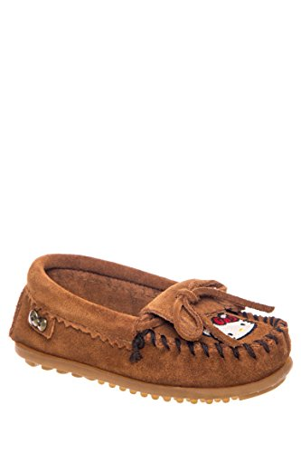Kilty Suede Moc - Minnetonka Children's Hello Kitty Kilty Moc,Brown,US 4 M
