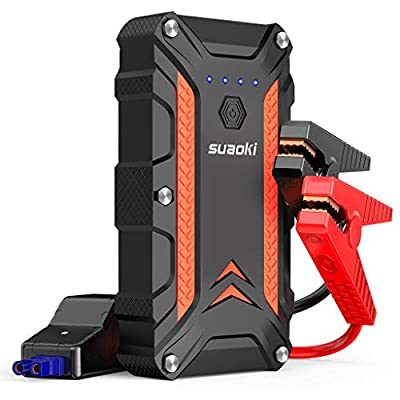 SUAOKI 1000A Peak Portable Car Jump Starter (up to 7.0L Gas or 5.0L Diesel Engine) 12V Auto Battery Booster with 18W Power Delivery & Dual Quick Charge 3.0 Ports Power Pack and IP68 Waterproof (CJS02)