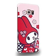 Case88 Premium Designs My Melody & Kuromi Collection 0652 Protective Snap-on Hard Back Case Cover for Samsung Galaxy S6 Edge