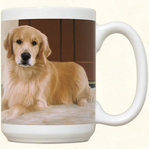 Golden Retriever On Porch Mug by Fiddler's Elbow - C4 ()