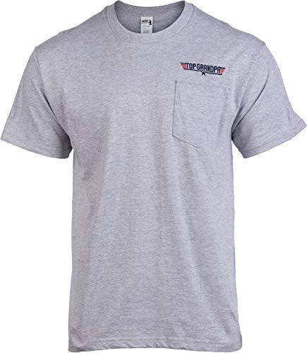 Used, Top Grandpa Pocket Tee | Funny Dad Humor Movie Gun for sale  Delivered anywhere in USA