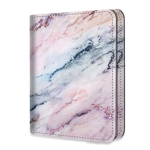 Fintie Mini Photo Album for Fujifilm Instax 3-Inch Film- 104 Pockets Photo Album for Fujifilm Instax Mini 9 Mini 8 Mini 90 Mini 25 Mini LiPlay Mini Link Printer, Polaroid Snap PIC-300, Marble Pink from Fintie