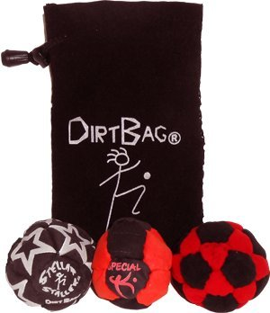 Dirtbag Medley 3 Pack, Red/Black with Black Pouch