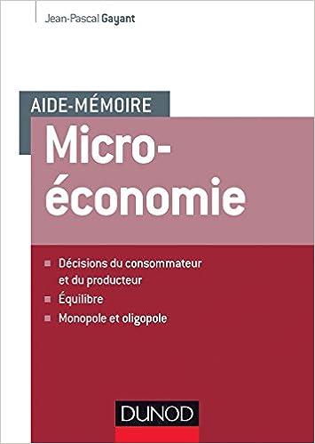 Aide-mémoire - Microéconomie epub pdf